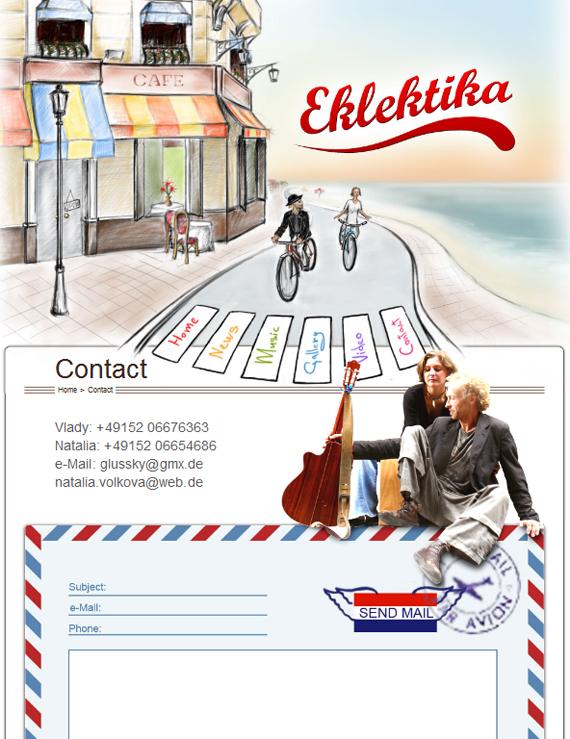Дизайн сайта Eklektika